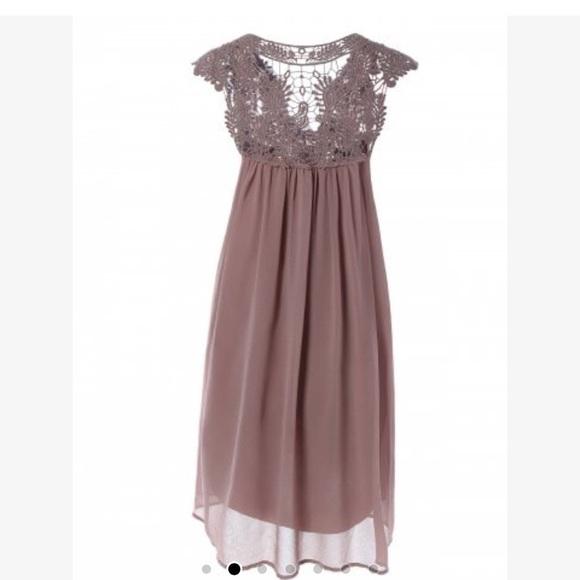 Rosegal Dresses Soldcrochet Panel Plus Size Shift Babydoll Dress